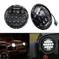 High Quality 75W 7 Round LED Headlights 2pcs For Hummer Jeep Wrangler CJ TJ JK 2007