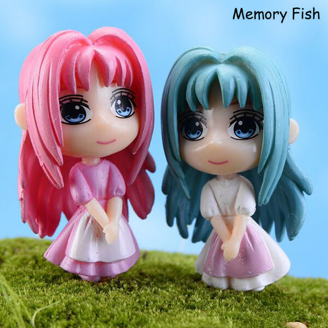 Kawaii Anime Mini Cute Big Eye Girls Dolls 3D Model Action Figure Toys Gifts Micro Garden