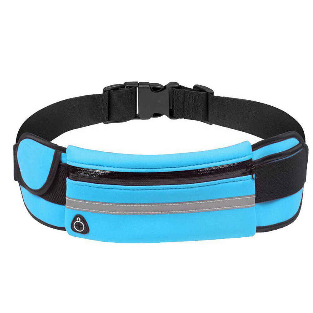 Los hombres y las mujeres deporte impermeable cintura cinturón Bum bolsa Fanny Pack Camping corriendo senderismo bolsa nueva negro azul verde
