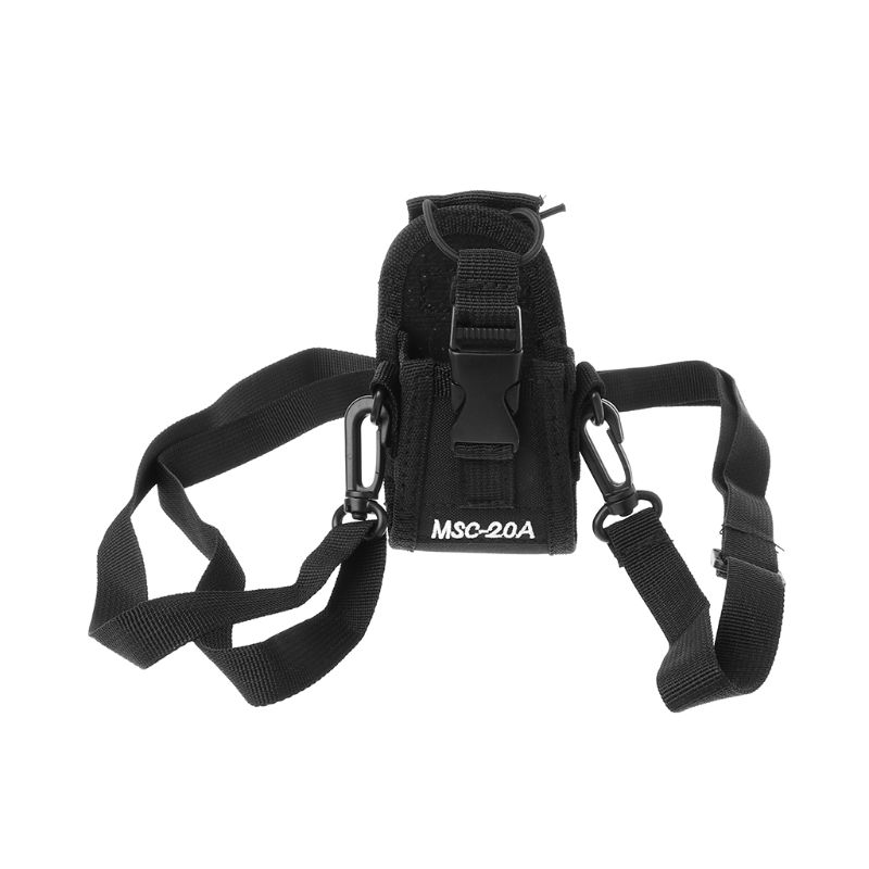 Premium Portable Nylon Interphone MSC-20A Sheath Walkie Holder Radio Talkie Case with Adjustable Strap for Multiple Interphones