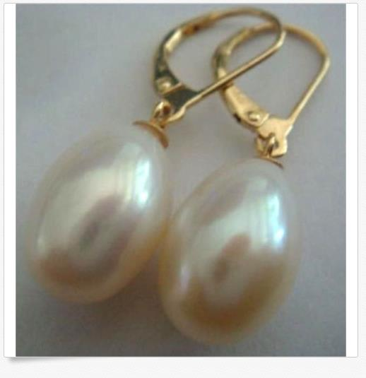 gorgeous a pair of 11-12mm south sea baroque white pearl earring 14k pair of huge 12mm natural south sea genuine white pearl stud earring 14k