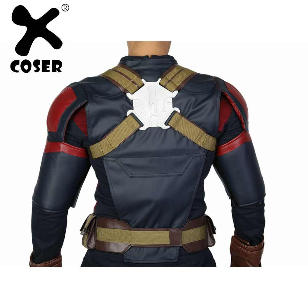 XCOSER Cosplay Belt PU Leather Captain America Costume Props for Halloween Party