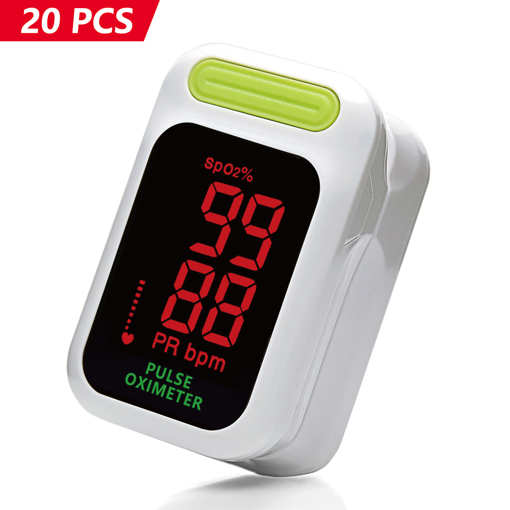 Yongrow 20Pcs Fingertip Pulse Oximeter Medical Portable Finger Pulse Oximeter Factory Wholesale Spo2 & Pulse Oximeter