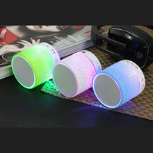Desxz MINI Wireless Portable Bluetooth Speaker Portable Subwoofer Colorful USB Music Sound Box Hand-free call LED Loudspeakers
