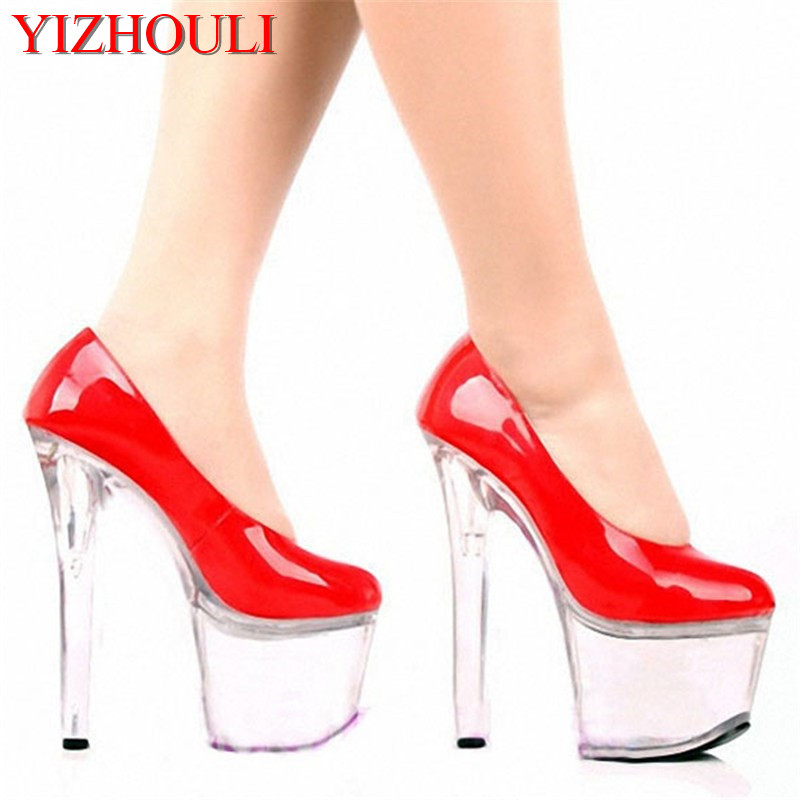 Elegant 17CM Ultra High Heels Single Shoes Fashion Brief Office OL Platform Crystal Shoes, Dress Shoes, Wedding / Party Shoes crystal shoes wedding shoes silver ultra high heels high heeled shoes latin dance single shoes ruslana korshunova fashion