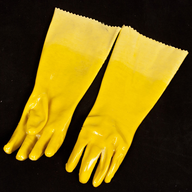 ФОТО Thickened mianmaojinsu gloves oil resistant rubber protective waterproof protective base