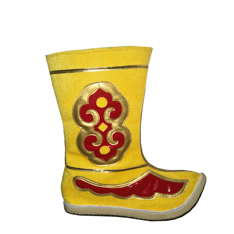 yellow sun wukong cosplay shoes swordsman cosplay boots vintage historical boots chinese ancient dynasty boots