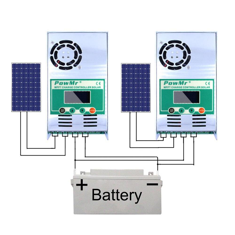 regulador de carga solar 60a para max 160v entrada dc