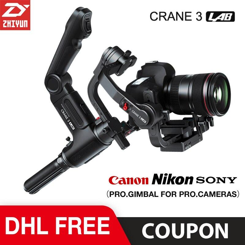 Zhiyun Crane 3 laboratorio 3 ejes cardán estabilizador para Nikon D850 cardán dslr cámara Sony A9 A7R Canon 1DX Mark II 5D 6D gh5 PK Crane 2