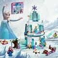 JG301 SY373 Анна Эльза Снежная Королева Эльза's Сверкающий Ледяной Замок Строительные Игрушки Блоки Кирпич Совместимость Друзей Лепин с Legoe игрушки