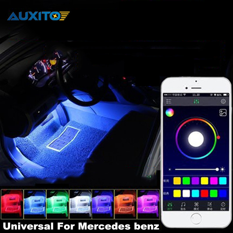 For Mercedes Benz AMG W203 W204 W205 S204 C204 W212 APP Control Car Interior Atmosphere Decoration Lamp RGB LED Strip Lights for toyota corolla avensis yaris rav4 auris hilux prius app control car interior atmosphere decoration lamp rgb led strip light