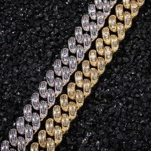 Image 3 - UWIN Luxe Iced Cubic Zirkoon Miami Baguette Cubaanse Link Chain Kettingen Hiphop Sqaure CZ Fashion Top Kwaliteit Heren Sieraden Ketting
