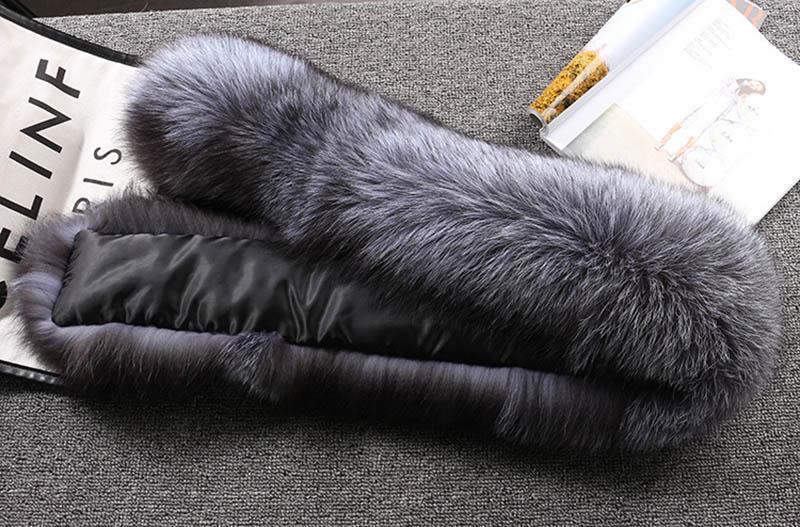 fox skin scarf big fox fur scarf (8)