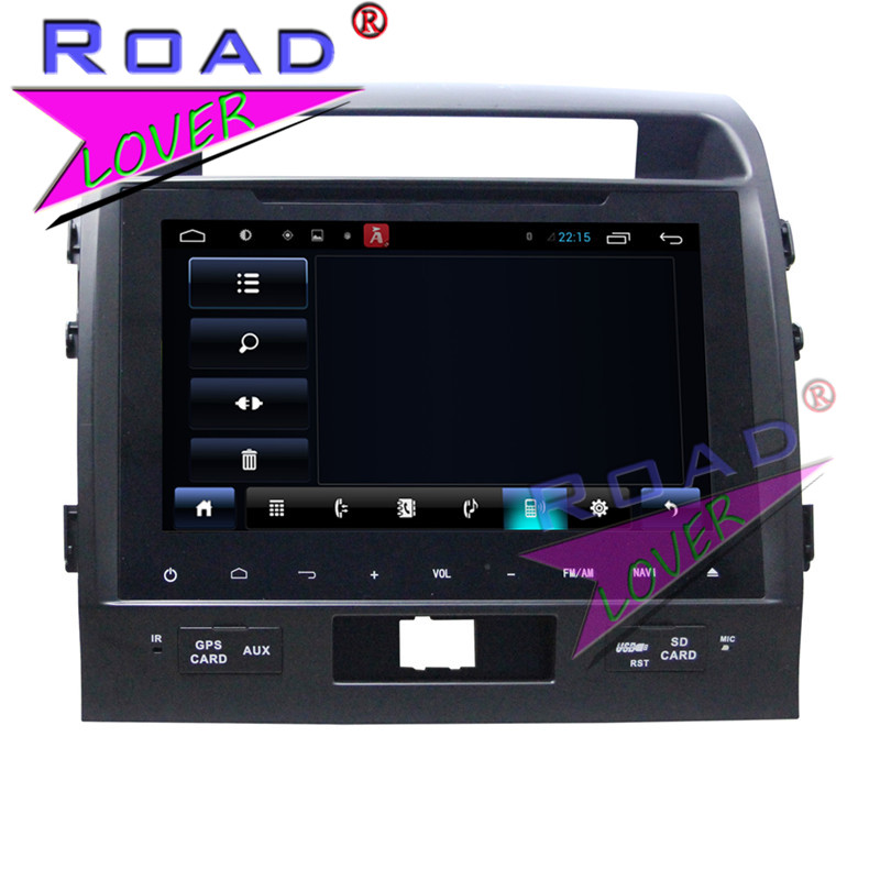 TOPNAVI 2G+32GB Quad Core Android 6.0 Car Media Center Player Audio For Toyota Land Cruiser 200 2008-2012 Stereo GPS Navigation