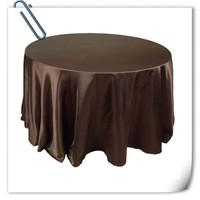 Hot Sale Brown 90inch 10pcs Satin Table Cloth For Weddings Parties Hotels Restaurant Free Shipping