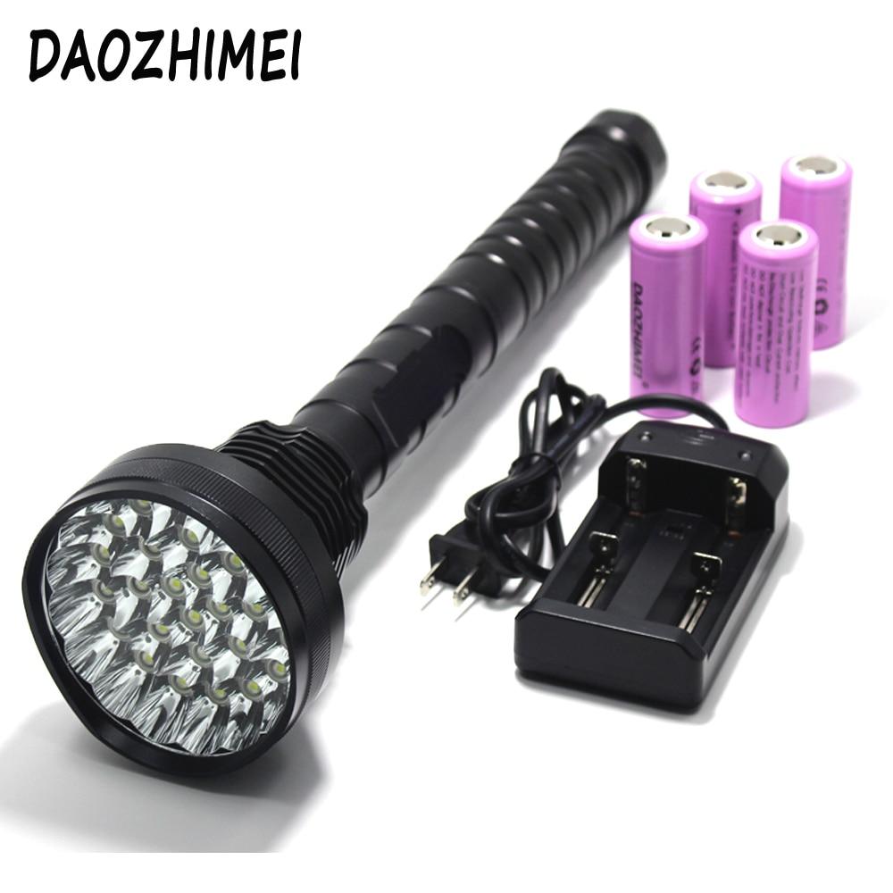 50000 Lumen XML-T6 x28 puissant lampe de poche LED lampe de chasse en plein air puissant police lampe torche lanterne Flash camping