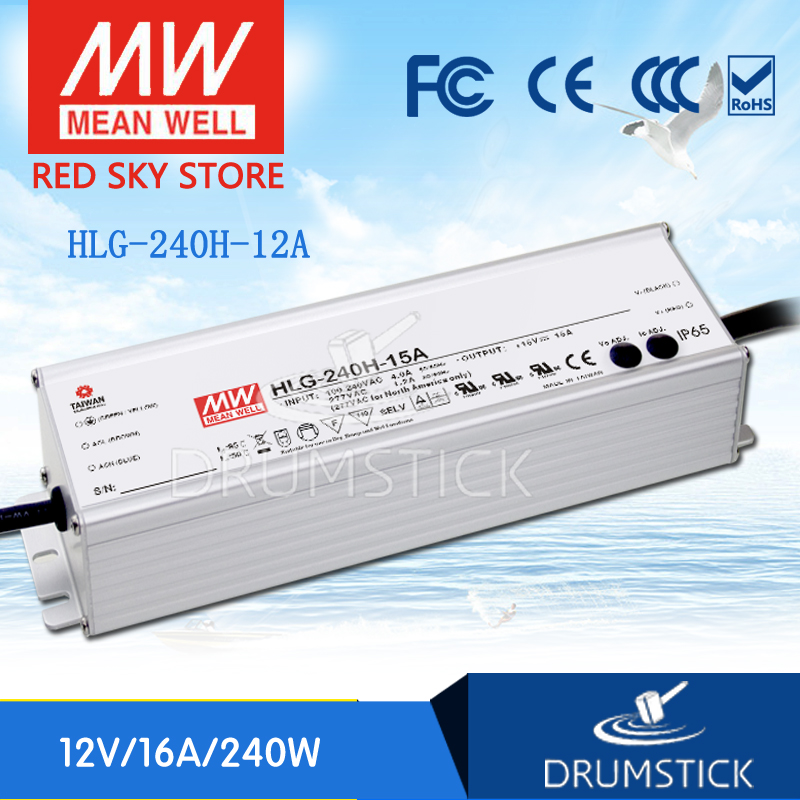 Best-selling MEAN WELL HLG-240H-12A 12V 16A meanwell HLG-240H 12V 192W Single Output LED Driver Power Supply A type цена
