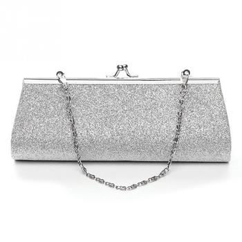 2ca8078e37 Woman Evening bag Shiny Glitter Clutch Purse Bag Evening Party Wedding  Bridal Banquet Handbag Shoulder Bag with the Chain