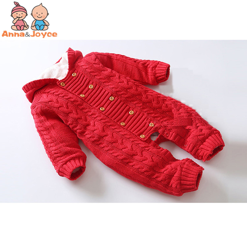 03859408676 Thick Warm Infant Newborn Baby Boy Girl Knitted Sweater Jumpsuit Hooded Kid  Toddler Outerwear Baby Rompers Winter Clothes - aliexpress.com - imall.com