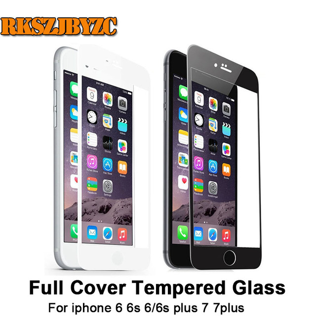 iphone 6 black front. full cover white and black premium front tempered glass for iphone 6 6s /6splus iphone