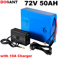 Série 20 72 V 50AH 72 V da bateria bicicleta elétrica 5000 W E moto-bateria de iões de lítio para LG  carregador Panasonic 18650 + 10A 100A BMS