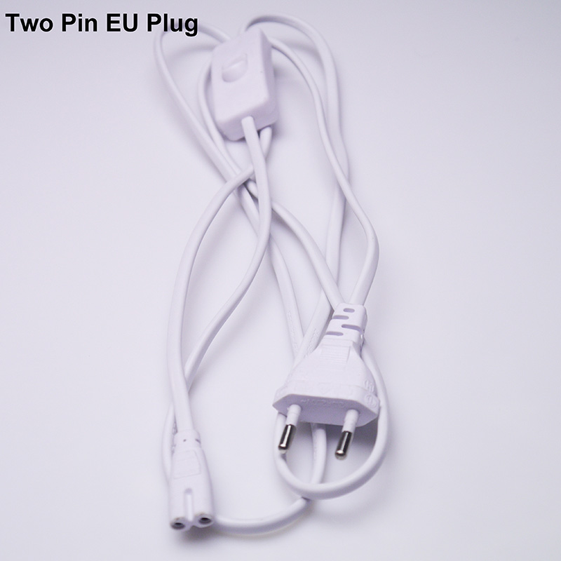 BEYLSION US EU Plug T5 T8 Electrical Wire Connector with ON OFF Switch 20CM 30CM Power Cord Extension Cable For LED Tube light  (6)