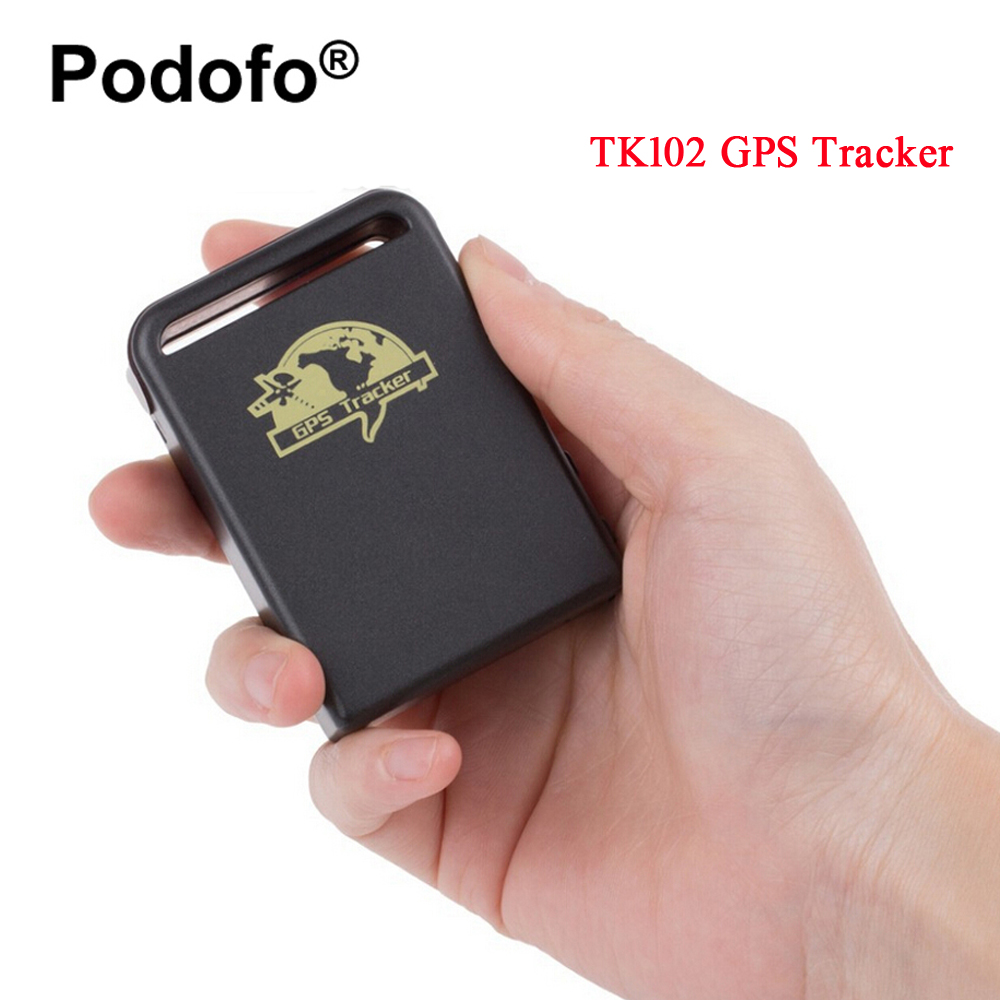 Podofo Car Vehicle TK102 Tracker GPS/GSM/GPRS System Tracking Device Real-time personal GPS Tracker with Two Battery MINI TRACK 8800mah big battery power bank gps tracker t8800se gsm alarm gprs real time tracking locating