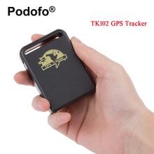 Podofo автомобиль TK102 трекер GPS/GSM/GPRS Системы отслеживания устройства в режиме реального времени персональный GPS трекер с два Батарея мини трек