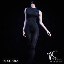 VSTOYS 19XG38 Tights Black White Bodysuit Clothing 1/6 Sexy Girl Figure F 12 Female TBLeague Large Bust Seamless Body