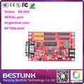 Onbon BX-5A2 светодиодный контроллер карты ПОСЛЕДОВАТЕЛЬНЫЙ порт 64*1024 пикселей плату управления для P10 одного цвета программируемые светодиодные панели светодиодные табло