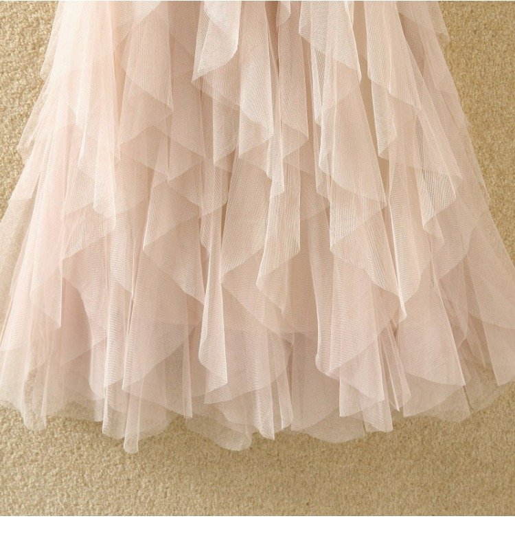 Women irregular Tulle Skirts Fashion Elastic High Waist Mesh Tutu Skirt Pleated Long Skirts Midi Skirt Saias Faldas Jupe Femmle 60