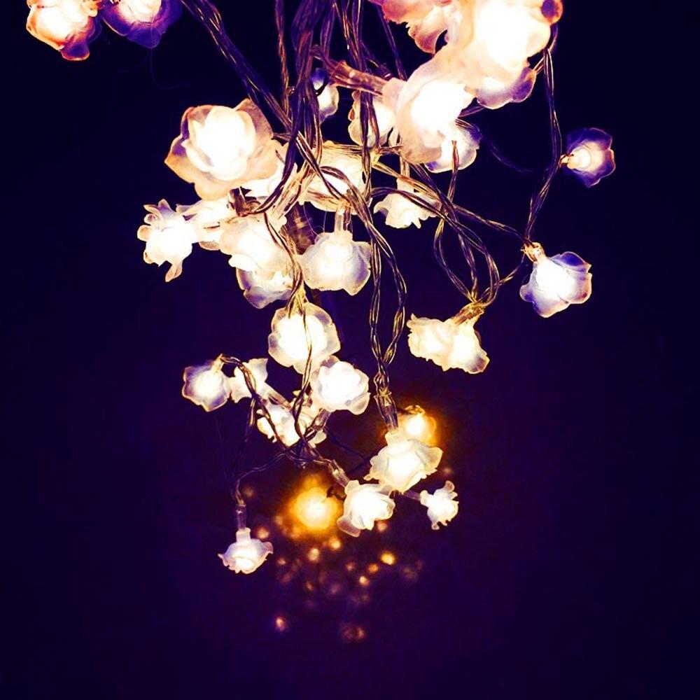 Flower string lights - Love Rose Led String Lighting 10 20leds Nightlight 9 Colors Valentine Day Flower Party