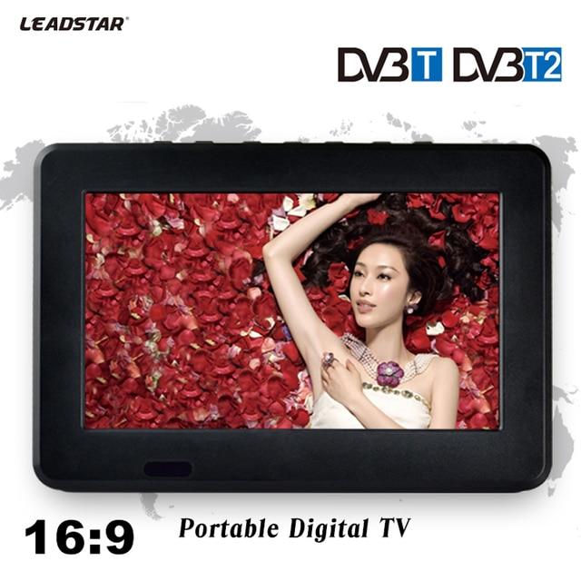 HD ТВ DVB-T2 DVB-T 7 дюймов в цифровом и аналоговом ТВ приемник и TF карта и USB аудио и видео воспроизведения Портативный DVB-T2 телевидения