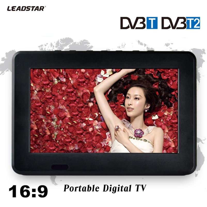 HD TV DVB-T2 DVB-T 7 Pouce Numérique Et Analogique TV Récepteur et la Carte De TF Et USB Audio Et Vidéo Lecture Portable DVB-T2 télévision