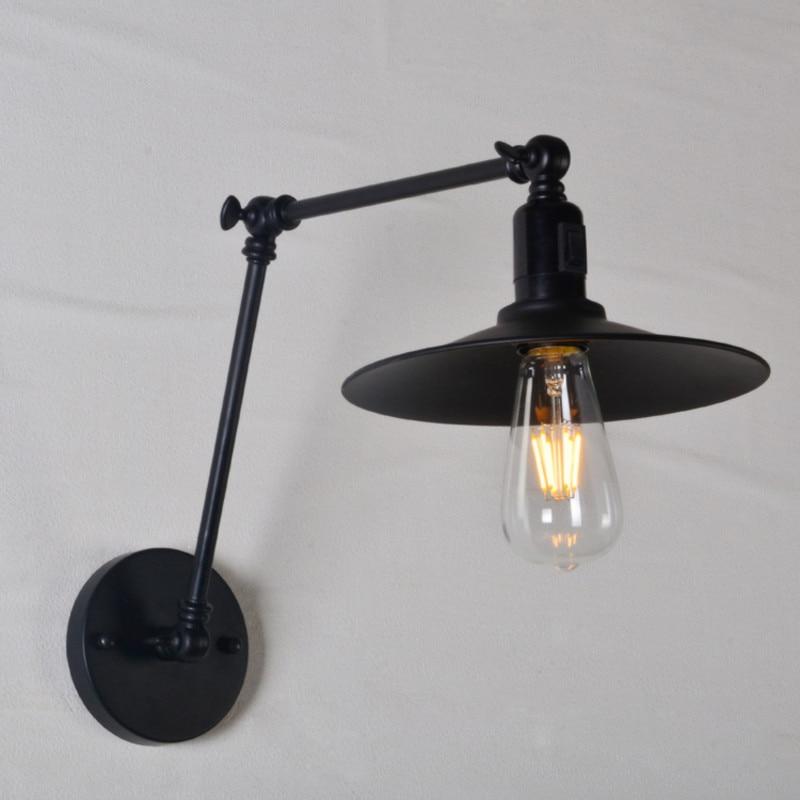Vintage Industrial Light Switch: Vioslite LED Black Switch Vintage B 20CM Loft Adjustable