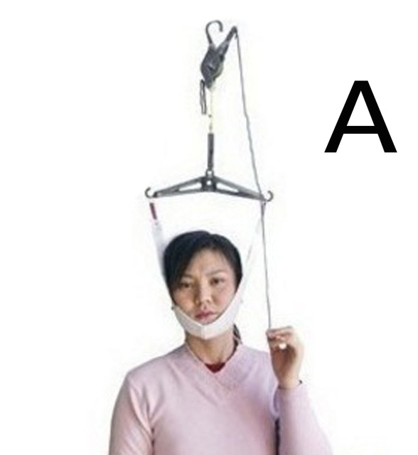 Cervical Traction Over Door Neck Massager Device Kit Stretcher Adjustment Chiropractic Back Head Massager relaxation 3