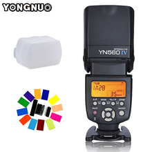 Светодиодная лампа для видеосъемки Yongnuo YN-560 Характеристическая вязкость полимера YN560IV YN560 Характеристическая вязкость полимера Универсальный Беспроводной Вспышка Speedlite для Canon Nikon Pentax Olympus Fujifilm сумка для камеры A99