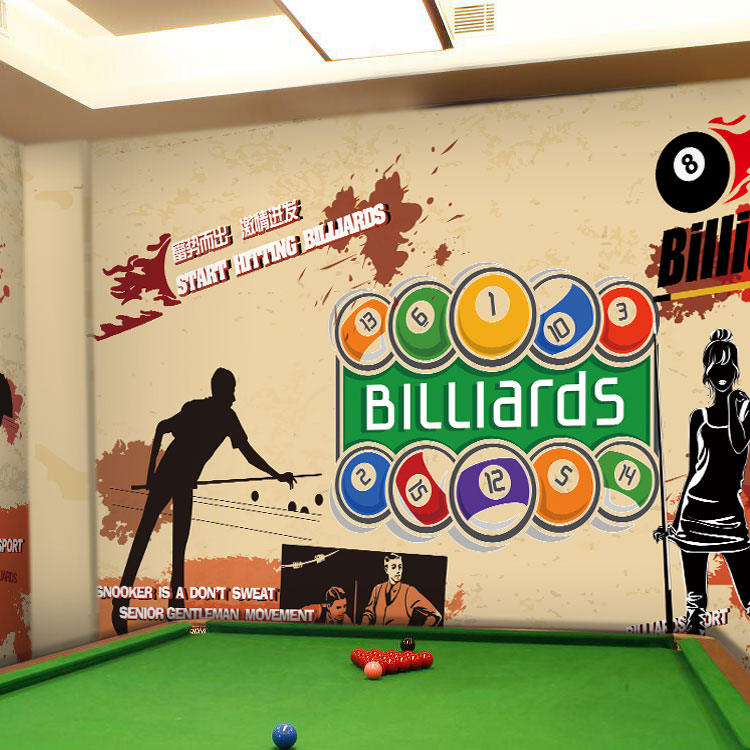 Custom photo wallpaper Table tennis fashion wallpaper hand-painted large mural themed gym billiards club wallpaper mural