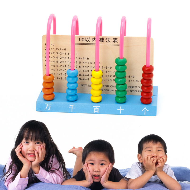 Kids Wooden Toys Child Abacus Counting Beads Maths Learning Educational Toys
