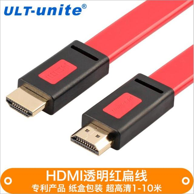 Manufacturers wholesale hot HDMI 1.4V cable red and black color pure copper wire core HDMI ultra-high-definition 4K line