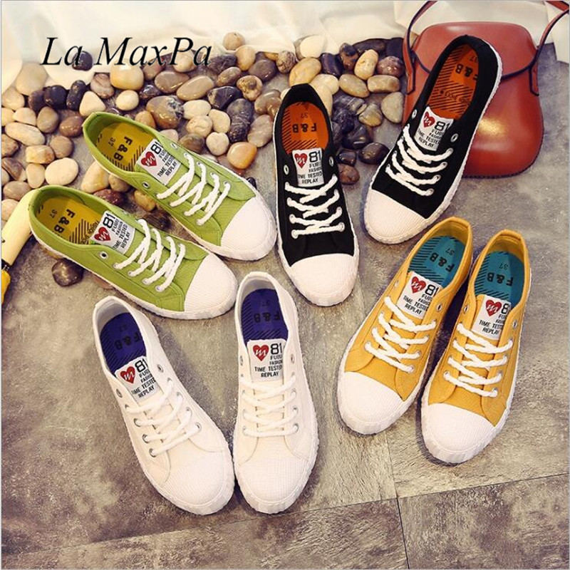 Women Casual Sneakers 2018 New White Canvas Shoes Female Spring Summer Woman Students Walking Shoes Zapatos Tenis Feminino