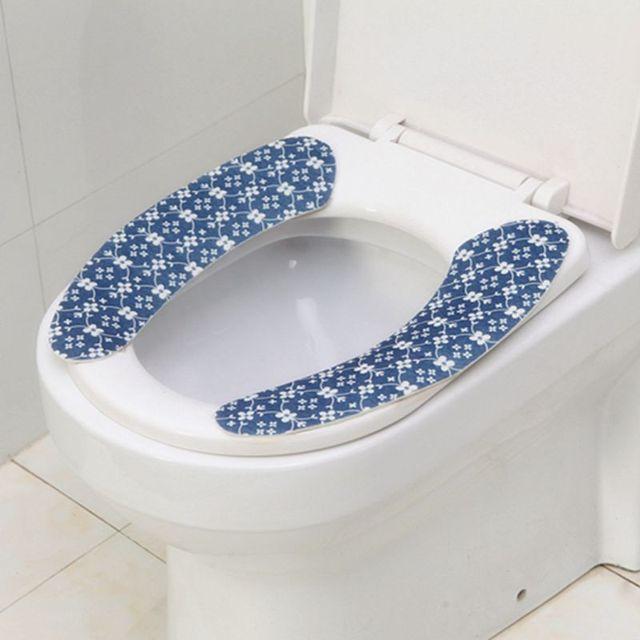 navy blue toilet seat cover. Retro Style Paste Toilet Warm Pad Stickers Navy Blue Seat Cover  Velcromag