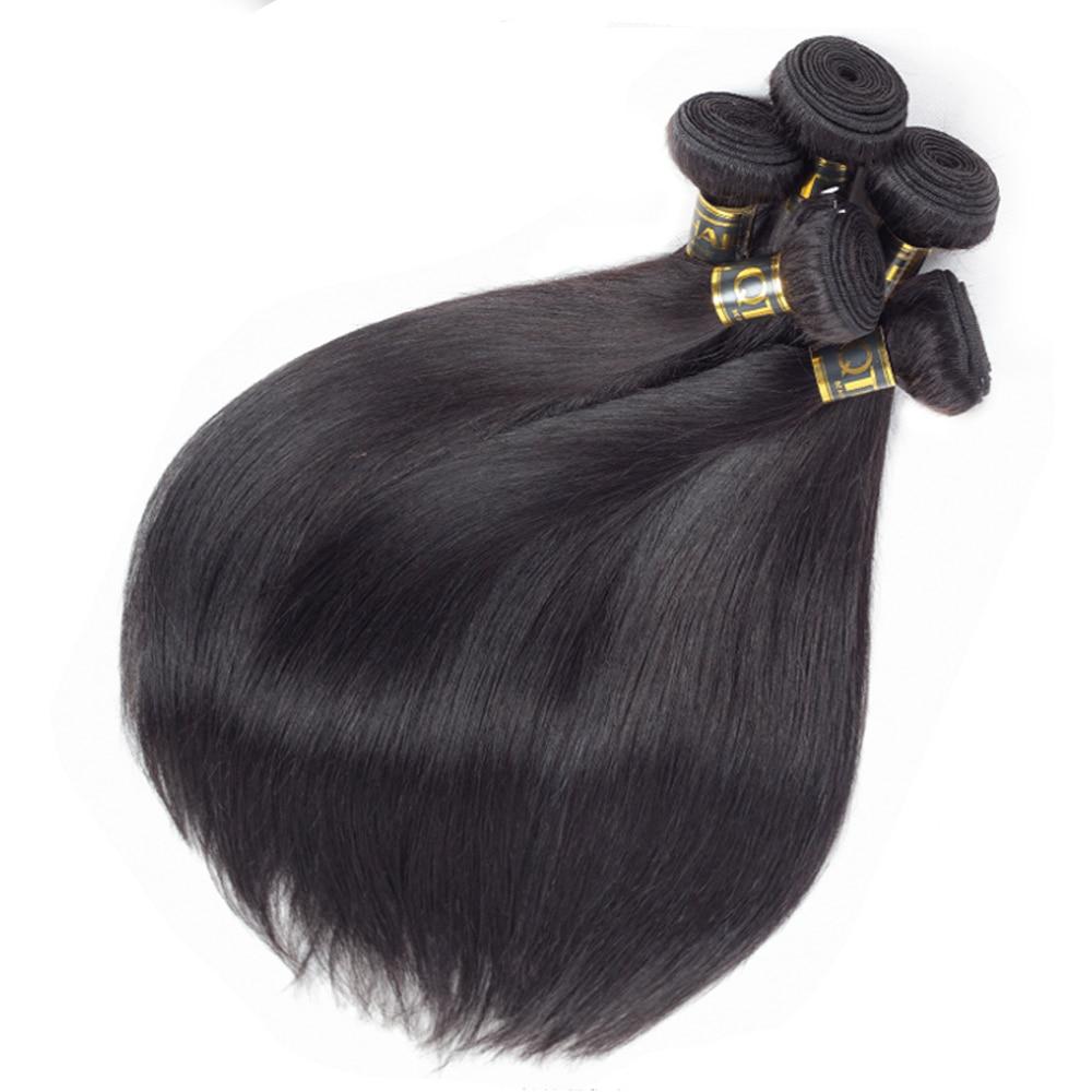 Peru Rambut Lurus Manusia Manusia Tenun Perlu Beli 1/3/4 Potongan - Rambut manusia (untuk hitam) - Foto 5