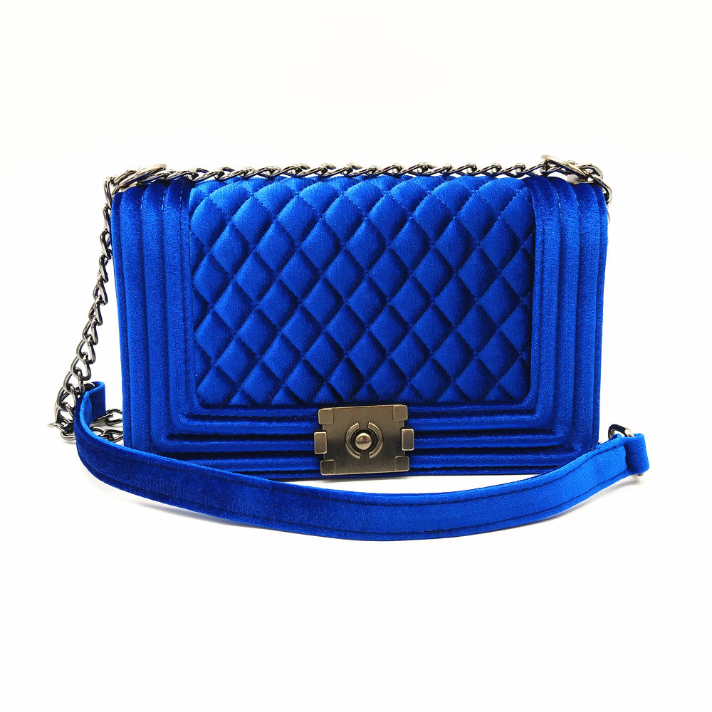 Golden Finger Brand Big Big Handbag Quilted Chain Velvet Bag High Quality Chain Ladies Crossbody Bag
