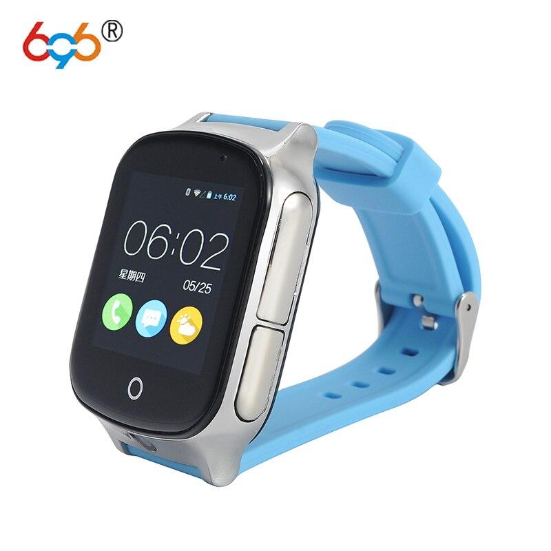 696 Astuto orologio Bambini Orologio Da Polso A19 3G WIFI Orologio Bambino Localizzatore GPS Tracker Smartwatch Con La Macchina Fotografica Per IOS Android telefono