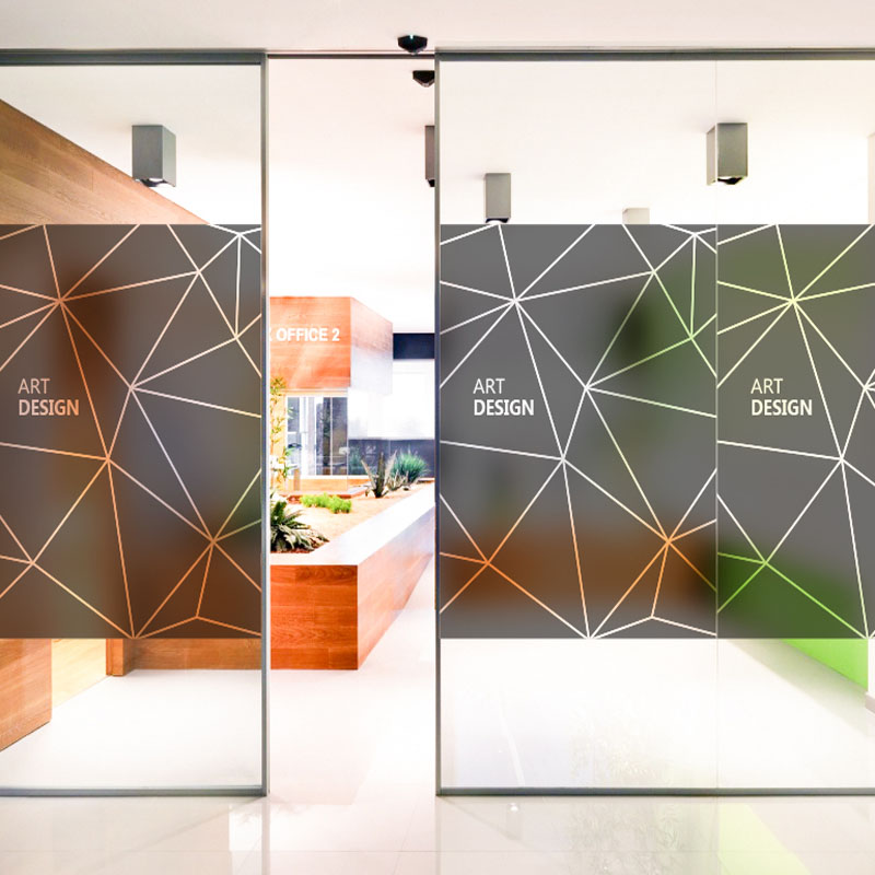 art voice personality creative company doors and windows glass foil