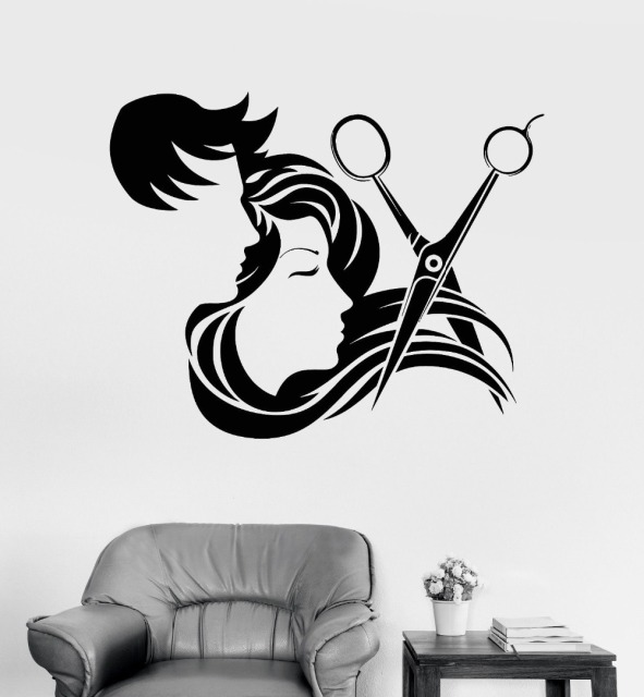 Aliexpresscom Buy Hair Salon Vinyl Wall Sticker Decal Hair - Custom vinyl wall decals for hair salonvinyl wall decal hair salon stylist hairdresser barber shop