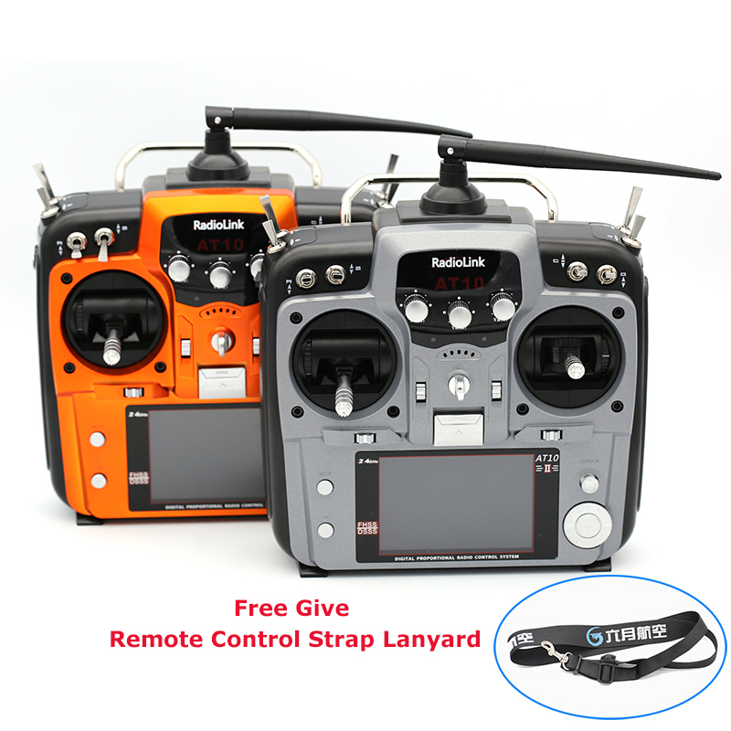 Original RadioLink AT10 Transmitter remote control system R10D Receiver return model for RC Helicopter DIY RC