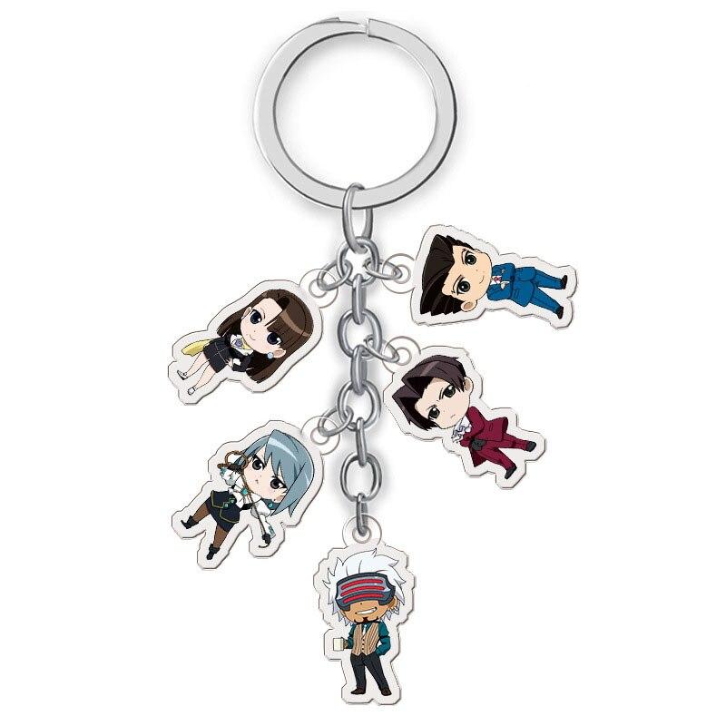 Gyakuten Saiban Ace Keychain Cartoon Figure Model Attorney Key Ring
