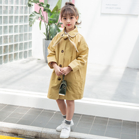 Autumn Jackets for Girls Fashion Kids Girl Jacket single Breast Windbreaker for Girl Children Jacket Girl Trench Coat with Bow